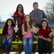 Sirius (L) has a new forever family!